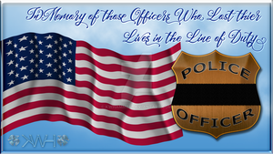Fallen Officer Memoriam Desktop Wallpaper by kwhammes