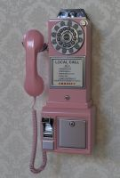 Crosley Pink 1950s Wall Pay Phone by Ozzik-3d