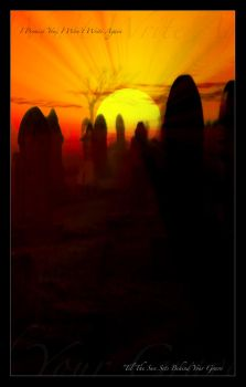 The Sun Sets Behind Your Grave by iMacThere4iAm