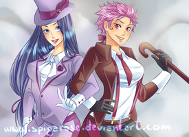 Vi and Caitlyn (crossdress edition) by SpigaRose
