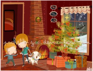 behind.the.christmas.tree by Pocket-Zoo