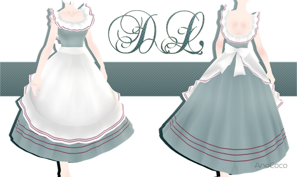 .:: MMD - Vintage Apron Dress DOWNLOAD ::. by AneCoco