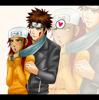 Request: Kiba x Karui by RaindropArt21