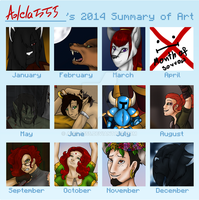 My 2014 Summary Of Art by Adela555