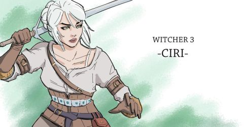 Witcher 3 - Ciri by shrouded-artist
