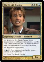 The Tenth Doctor Card by Corencio