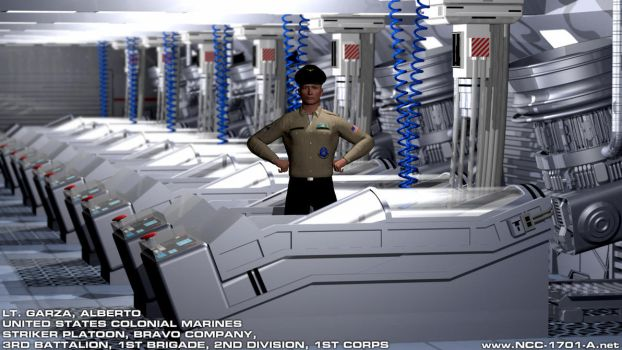 USCM - USS Montero - Cryogenics Compartment by STLegends