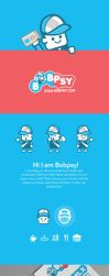 Bobpsy-logo-business-card-design by Lemongraphic