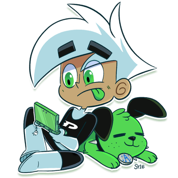 Danny and 3DS by ecokitty