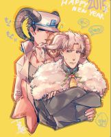 [JJBA] Goat and Sheep by tam01