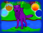 Header for a website (River of Elements by MagicalWolfpower