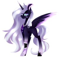 MLPArtTrade - AU Princess Luna by HuiRou