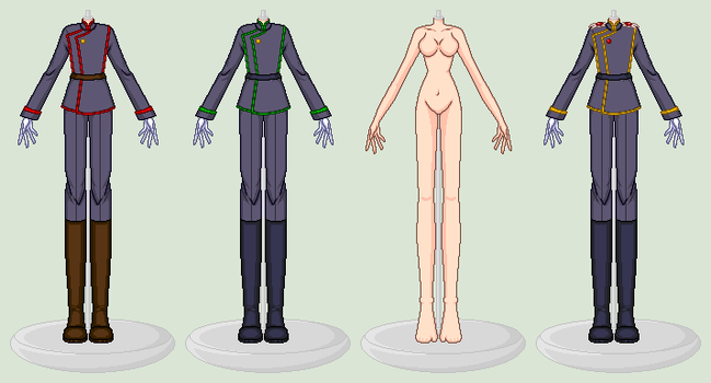 SSMU - Sailor Moon Villain Clothes Template - WIP by xavs-pixels