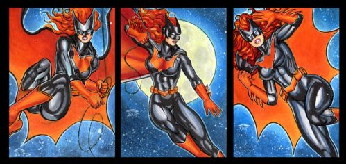BATWOMAN PERSONAL SKETCH CARDS by AHochrein2010