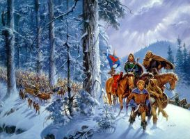 'Winter's Heart' cover by Darrell K. Sweet by ArcangHell