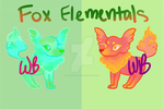 [OPEN 2/2] Fox Elementals Adopts by WBadoptables