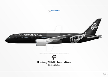 Boeing 787 - Air New Zealand by graphicamechanica
