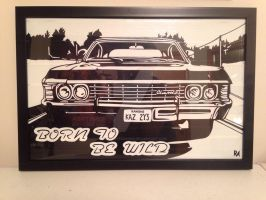 Supernatural Impala Duct Tape Art by DuctTapeDesigns