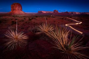 Sunset at Monument Valley II by gursesl