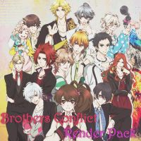 Brothers Conflict Render Pack by katherineizaguirre