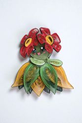 Pokemon Paper Quilling Art - 182 Bellossom by wholedwarf