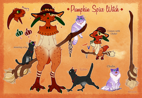 Pumpkin Spice Witch (AUCTION CLOSED) by MrGremble