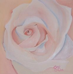 Acrylic Rose in Peach by astraldreamer