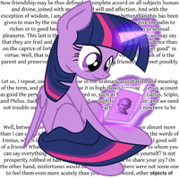 Twilight reads Cicero by AaronMk