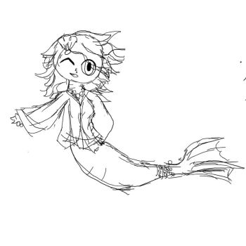 Mermaid sketch by KittyCake2004