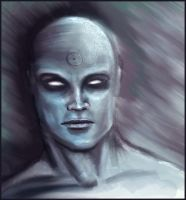 Dr. Manhattan the Watchmen by theartspark