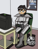 Me Playing Fallout: Brotherhood of Steel by JDogindy