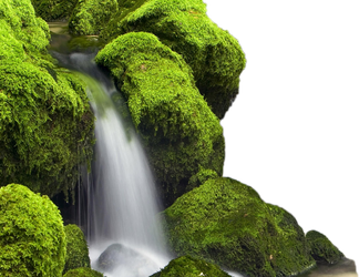 green_rocks- water fall by wajdanali