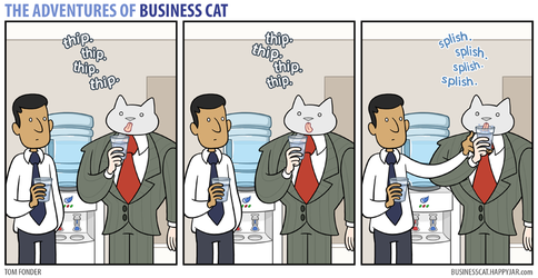 The Adventures of Business Cat - Water by tomfonder