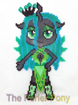 My Little Pony Chibi Perler Anthro Queen Chrysalis by Perler-Pony