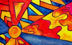Stained Glass Sun by mintdawn