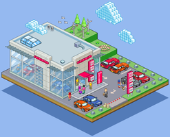 Honda Dealership... by gunstar-red