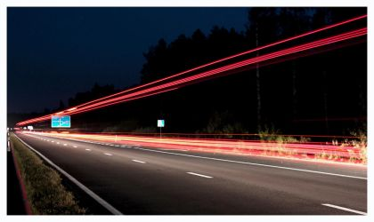 Night on the road by marcis