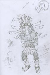 Skull Kid Unclean Sketch by kuhu