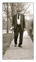 Old man walking.img709, with story and comparison by harrietsfriend