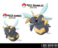010 - 011: Bumblebee Fakemon by LeafyHeart