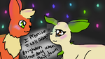 Flareon and Leafeon! by Bindiluckycat