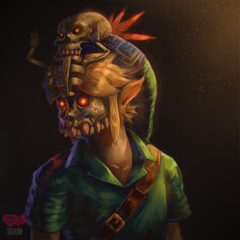 speedpaint video - majoras mask by Siga4BDN