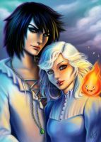 Howl and Sophie by mayan-art