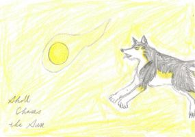 Skoll Chase the Sun by JimWolfdog