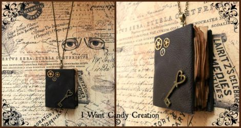 HANDMADE - Steampunk Nacklace book by IWantCandyCreation