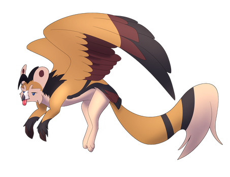 Flying Derp Gryphon by Sianna-Cyberhound