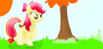 Apple Bloom Working by RainbowDashArtist