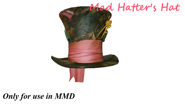 -MMDDL- Mad Hatter's Hat by Rainb0wCat
