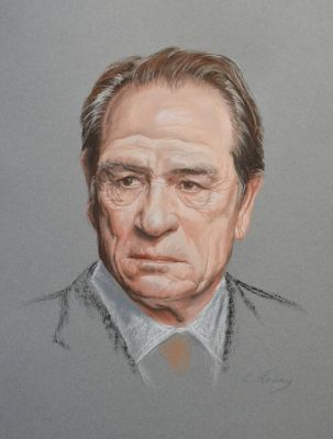 Tommy Lee Jones Portrait by Andromaque78