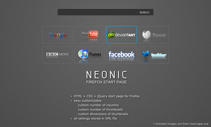 NEONIC - Firefox start page by flatmo1